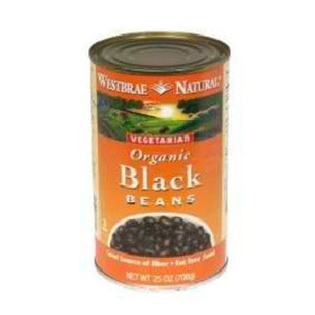 Westbrae Foods Black Beans Fat Free (12x25 Oz)