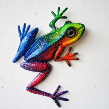 Frog art wall sculpture