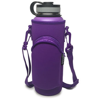 Onoola 40oz Purple Neoprene Pocket Carrier for Hydro Flask Type Bottles
