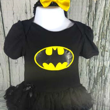 Batman Tutu Dress with Matching Headband