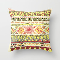 Pizza Pattern Throw Pillow by Michael Todd