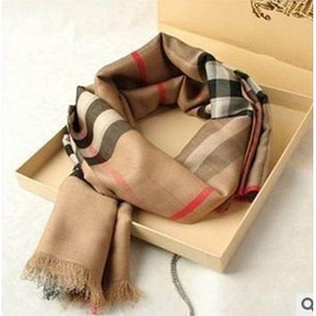 Burberry Classic Popular Autumn Winter Cashmere Plaid Scarf Shawl I/A