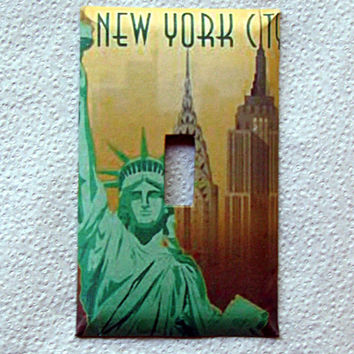Light Switch Cover - Light Switch New York City Vintage Travel Poster