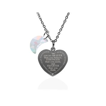 Inspirational Heart Necklace Made With Crystals from Swarovski 84cc26861c