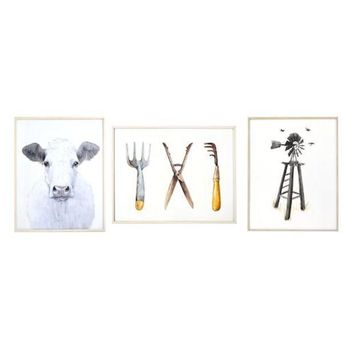 MDIGPL3 New View Rustic Farmhouse Framed Wall Art 3-piece Set