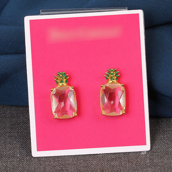 pineapple pattern summer fashion style lovely women gift -earrings for her = 4828000196