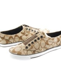 Coach Summer Flat Laceless Slip On Signature Fashion Sneaker Tennis Shoes Size 6