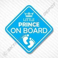 Little Prince On Board Vinyl Decal Bumper Sticker Baby Boy Sticker Car Truck SUV