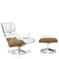 Vitra - Eames Lounge Chair & Ottoman - walnut white