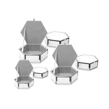 Swing Design® Mia Glass Hexagon Storage Box