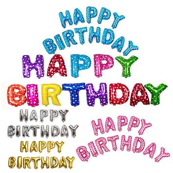 Multi Color Letters Happy Birthday Foil Balloons