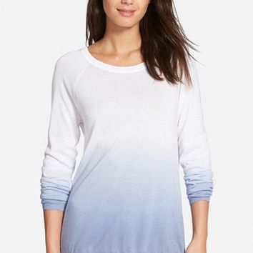 Women's Nordstrom Collection 'Lula' Dip Dye Cotton Blend Sweater,