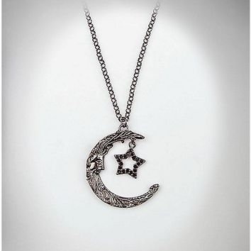 Moon and Star Charm Necklace - Spencer's