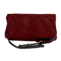Zadig & Voltaire- Cranberry Leather Leopard Print Bag