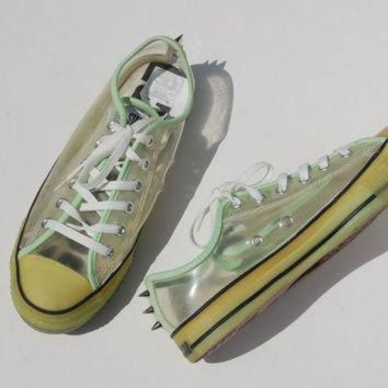 DCCKHD9 Glow in the Dark Studded Converse Allstars - Hard to Find Rare Chucks - Lo Tops - Rave