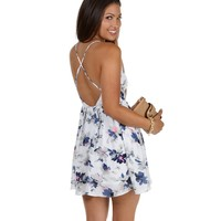 Sale- Ivory Bae-cation Printed Skater Dress