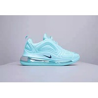 NIKE Air Max 720 Flyknit New fashion women sports leisure shoes Light Blue