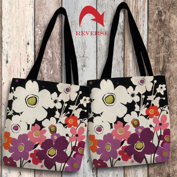 Flower Power II Canvas Tote Bag