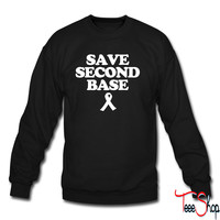Save Second Base b crewneck sweatshirt