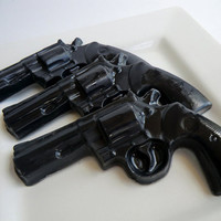 stocking stuffer for man - 3 Police Gun Soap - christmas gift for dad