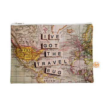 "Sylvia Cook ""Travel Bug"" Map Everything Bag"