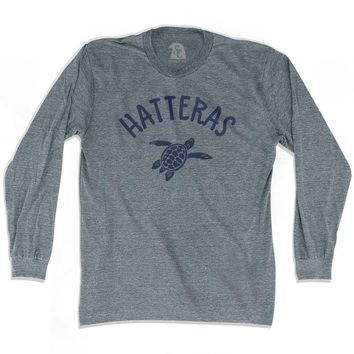 Hatteras Beach Sea Turtle Adult Tri-Blend Long Sleeve T-shirt