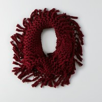 AEO KNIT FRINGE SNOOD