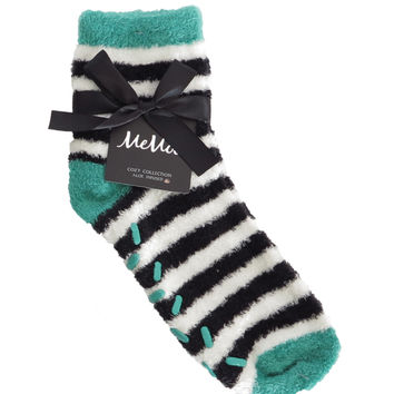 Colorblock Cozy Sock w/Aloe