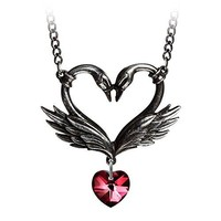 The Black Swan Romance Necklace by Alchemy Gothic, England
