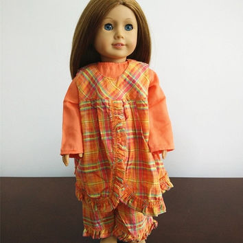 "Hot sell American girl bohemian dress doll accessories fashion clothes with dress for 18"" American girl doll girl gift = 1928594244"