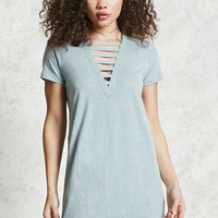 Caged Front T-Shirt Dress