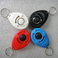 1 Pcs New Dog Pet Clicker Dog Training Trainers With Key Chain Pets Supplies