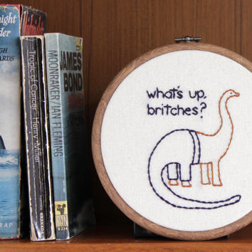 "What's Up Britches Hand Embroidery - 6"" Hoop"