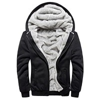 Russia Size XXXXL Hoodies Men Brand-Clothing Sweatshirt Mens Chandal Hombre Thick Fleece Hoody Pullover Winter Warm Mens Jacket