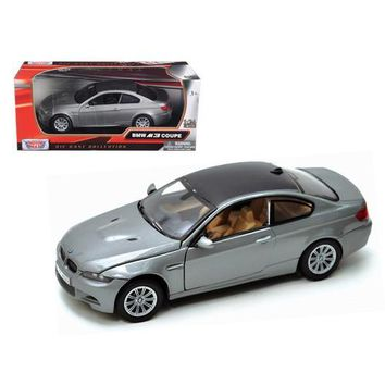 BMW M3 E92 Coupe Gray 1/24 Diecast Model Car by Motormax