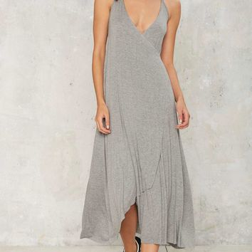 Cross Your V's Halter Wrap Dress