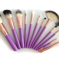 Amazon.com: Makeup Brushes Set By Boutiguaire Is a Professional 11 piece Natural Goat Hair C...