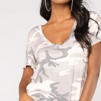 New Rules Oversized Top - Grey