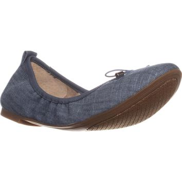 Jessica Simpson Nalan Bow Decal Ballet Flats, Chambray Blue, 10 US / 40 EU