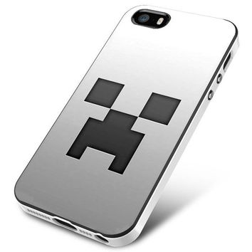 Minecraft Game Grey Face iPhone 5 | 5S | 5SE Case Planetscase.com