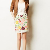 Ayaka Embroidered Skirt by Maeve Neutral Motif