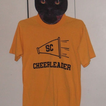 Vintage cheerleading t-shirt small 50/50