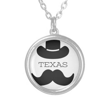 Texas in White Silver Plated Necklace