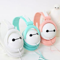 New Big Hero 6 BAYMAX Headset Stereo Headphone Earphone for Samsung With MIC