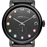 Women's MARC BY MARC JACOBS 'Baker' Crystal Index Bracelet Watch, 37mm - Black