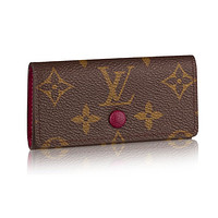 Louis Vuitton Monogram Canvas 4 Key Holder Wallets M60705 Made in France
