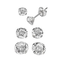 Renaissance Collection 10k White Gold 3.5-ct. T.W. Stud Earring Set - Made with Swarovski Zirconia