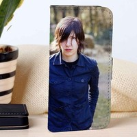 Carrie Brownstein From Sleater Kinney | Rock Band | Music | custom wallet case for iphone 4/4s 5 5s 5c 6 6plus 7 case and samsung galaxy s3 s4 s5 s6 case
