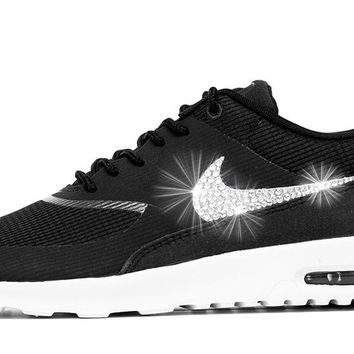 Sale - Nike Air Max Thea + Crystals - Black/White