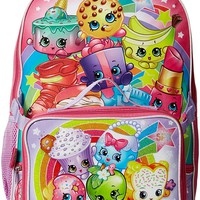 Shopkins Girls' Backpack with Lunchbox Pink
